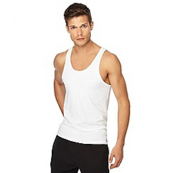 Calvin Klein - Set of 2 white regular fit tank tops