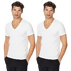 Calvin Klein - Set of 2 white V-neck t-shirts