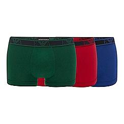 Emporio Armani - 3 pack assorted stretch cotton trunks