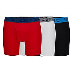 Under Armour - 3 Pack Red Boxer Briefs