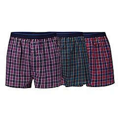 The Collection - 3 pack assorted checked boxers