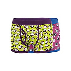 Red Herring - Pack of two purple sheep and dog keyhole trunks