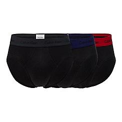 Calvin Klein - 3 pack black hip briefs