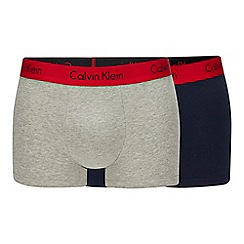 Calvin Klein - 2 pack navy and red 'pro stretch trunks