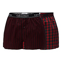 Calvin Klein - 2 pack black and red printed boxers