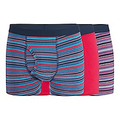 Red Herring - 3 pack pink stripe print keyhole trunks