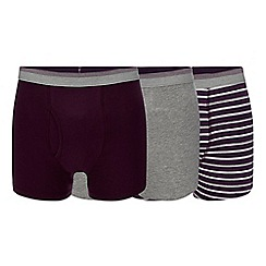 The Collection - Big and tall 3 pack purple keyhole trunks