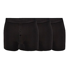 The Collection - 3 pack black button boxers