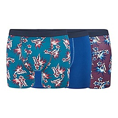 Red Herring - 3 pack floral print keyhole trunks