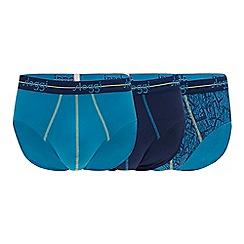 Sloggi - 3 Pack Turquoise Printed Midi Briefs
