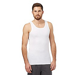 The Collection - Pack of two white crew neck vests