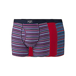Mantaray - Big and tall pack of three pink plain and striped keyhole trunks