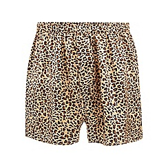 The Collection - Gold leopard print silk boxers
