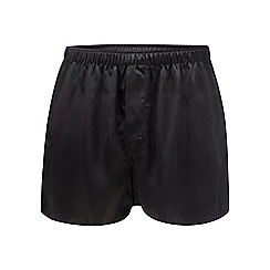 The Collection - Black silk boxers