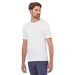 Maine New England - Big and tall white short sleeved thermal shirt