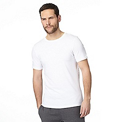The Collection - Big and tall pack of two white t-shirts