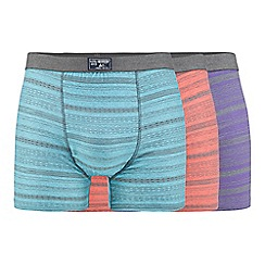 Mantaray - Pack of three assorted patterned hipster trunks