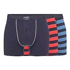 Mantaray - Three pack navy striped boxers