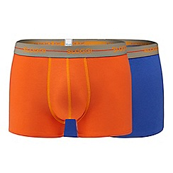 Sloggi - Pack of two orange and purple hipster trunks