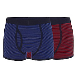 J by Jasper Conran - Big and tall pack of two multi-coloured striped boxers
