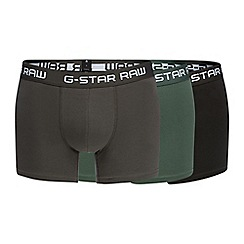 G-Star - Pack of three dark grey logo print hipster trunks