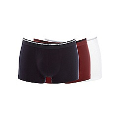 Jockey - Pack of three black white and red trunks