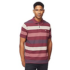 Mantaray - Big and tall multi-coloured block striped polo shirt