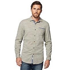 Mantaray - Big and tall khaki textured shirt