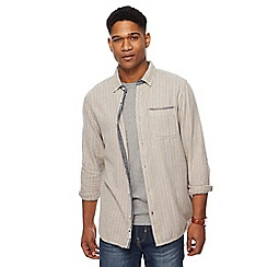 Mantaray - Big and tall blue striped shirt