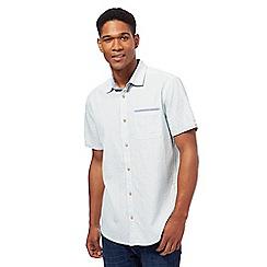 Mantaray - Light blue textured broken striped shirt