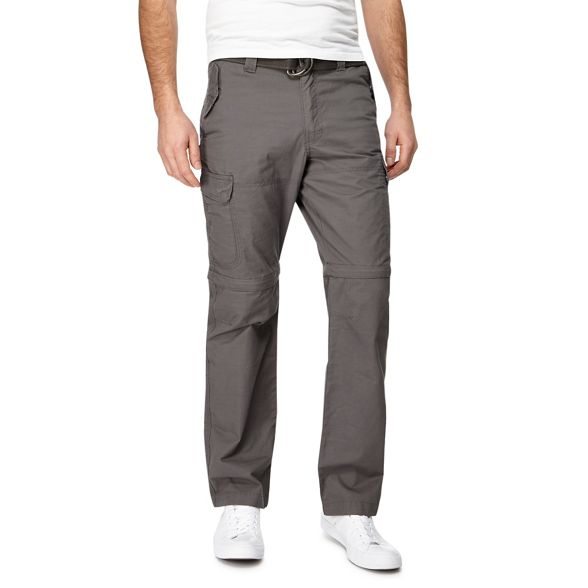 zip tall dark Big cargo and off trousers grey Mantaray leg qHwAFXxx