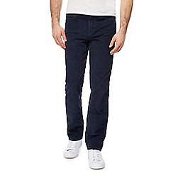 Mantaray - Navy corduroy straight leg trousers