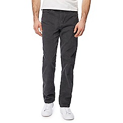 Mantaray - Big and tall grey corduroy straight leg trousers