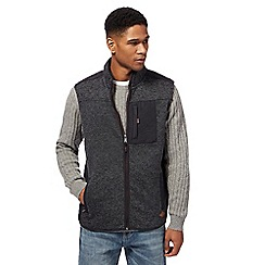 Mantaray - Big and tall blue quilted panel gilet
