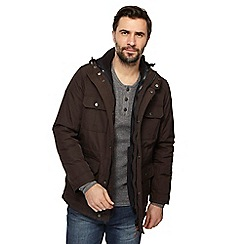 Mantaray - Big and tall brown 3-in-1 jacket