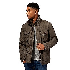 Mantaray - Big and tall khaki mock layered jacket