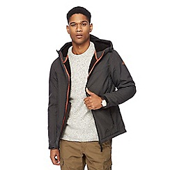 Mantaray - Big and tall dark grey soft shell hooded jacket