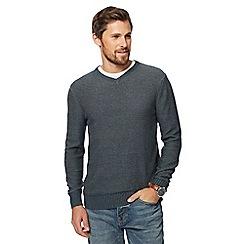 Mantaray - Big and tall light grey v neck jumper