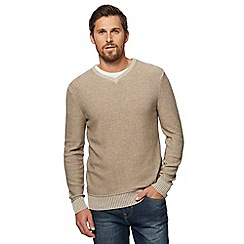 Mantaray - Beige cream V neck jumper