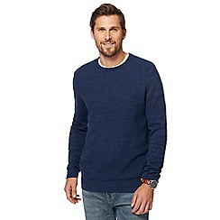 Mantaray - Dark blue textured jumper