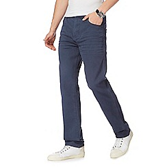 Mantaray - Big and tall blue straight leg trousers