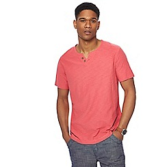 Mantaray - Big and tall pink notch neck t-shirt