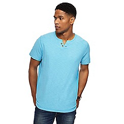 Mantaray - Big and tall turquoise notch neck t-shirt