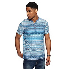 Mantaray - Blue striped Y-neck top