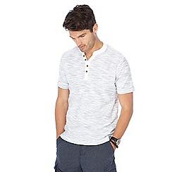 Mantaray - Grey striped Y-neck t-shirt