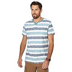 Mantaray - Navy striped short sleeve t-shirt