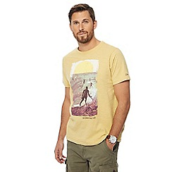 Mantaray - Yellow California sunset print crew neck t-shirt