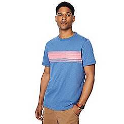 Mantaray - Bright blue striped t-shirt