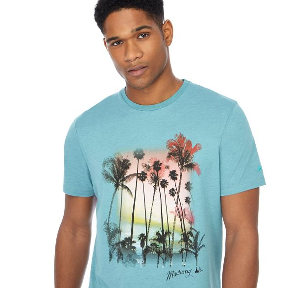 palm Turquoise Mantaray t print tree shirt FpOn6qU