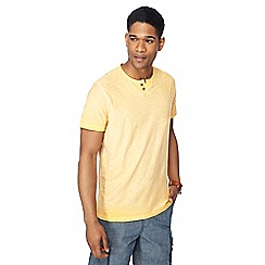 Mantaray - Big and tall light orange oil wash notch neck t-shirt